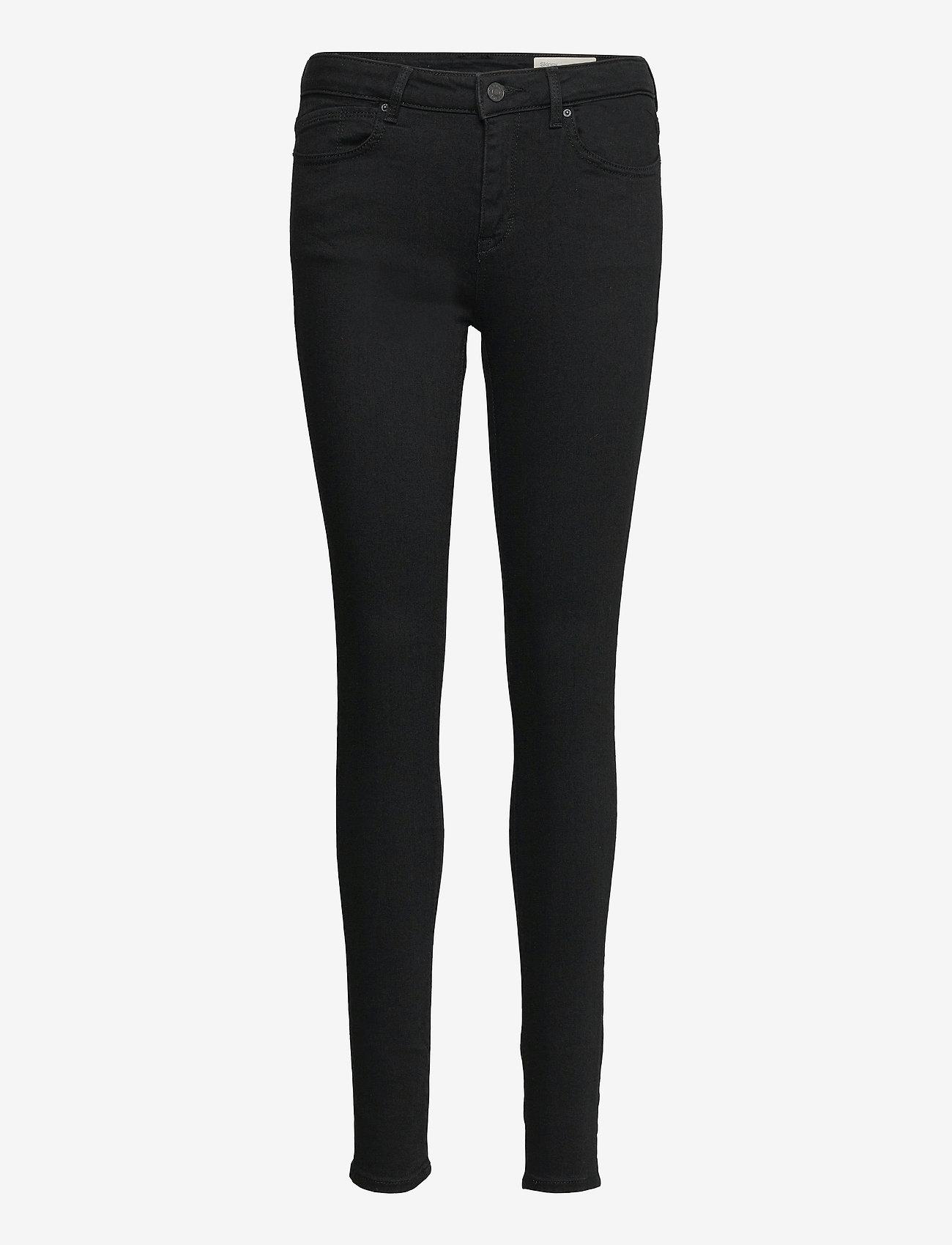 Esprit Casual - Pants denim - skinny jeans - black rinse - 0