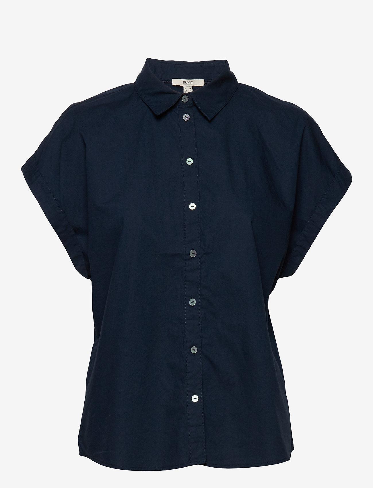 Esprit Casual - Blouses woven - kortermede skjorter - navy - 0