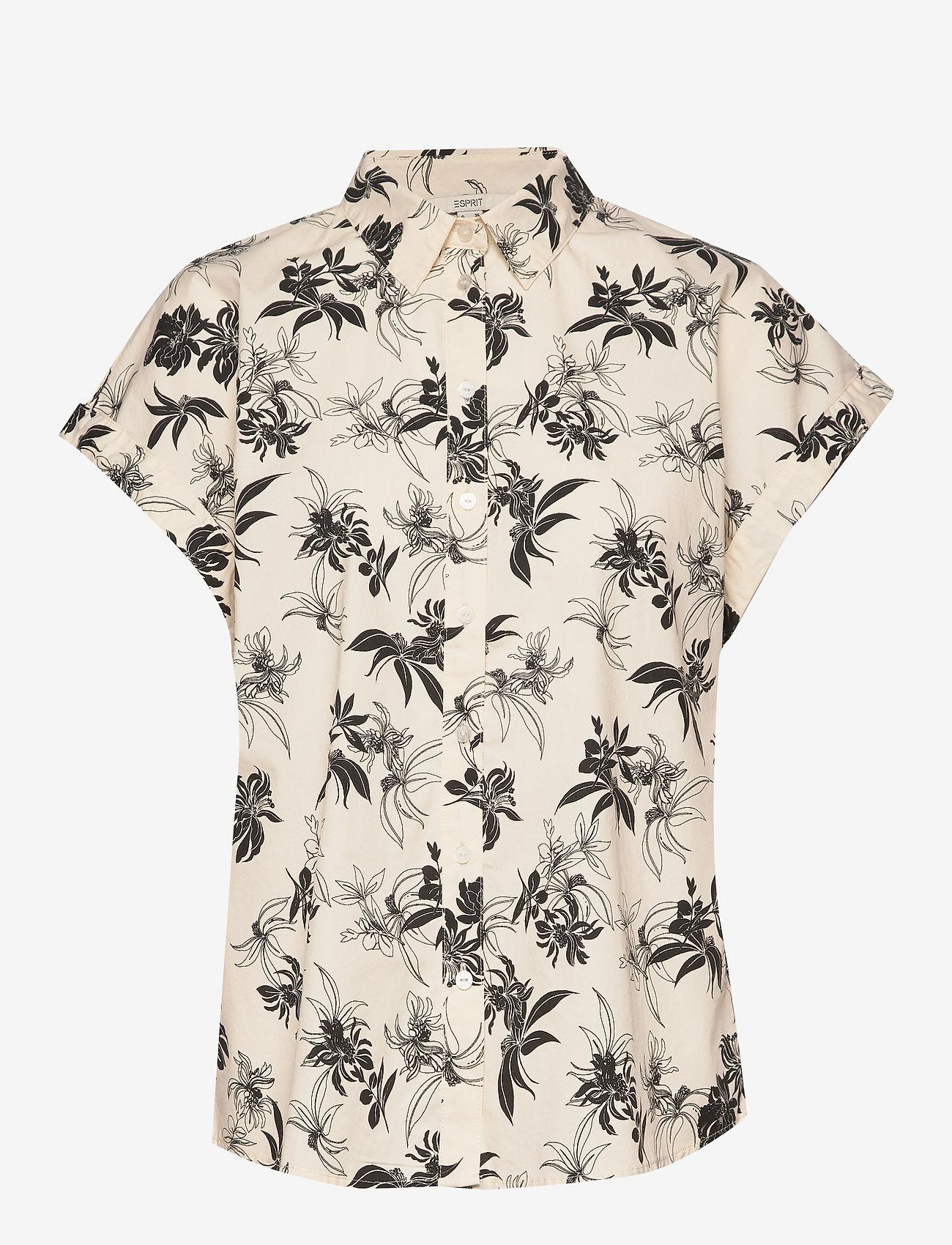 Esprit Casual - Blouses woven - overhemden met korte mouwen - off white - 0