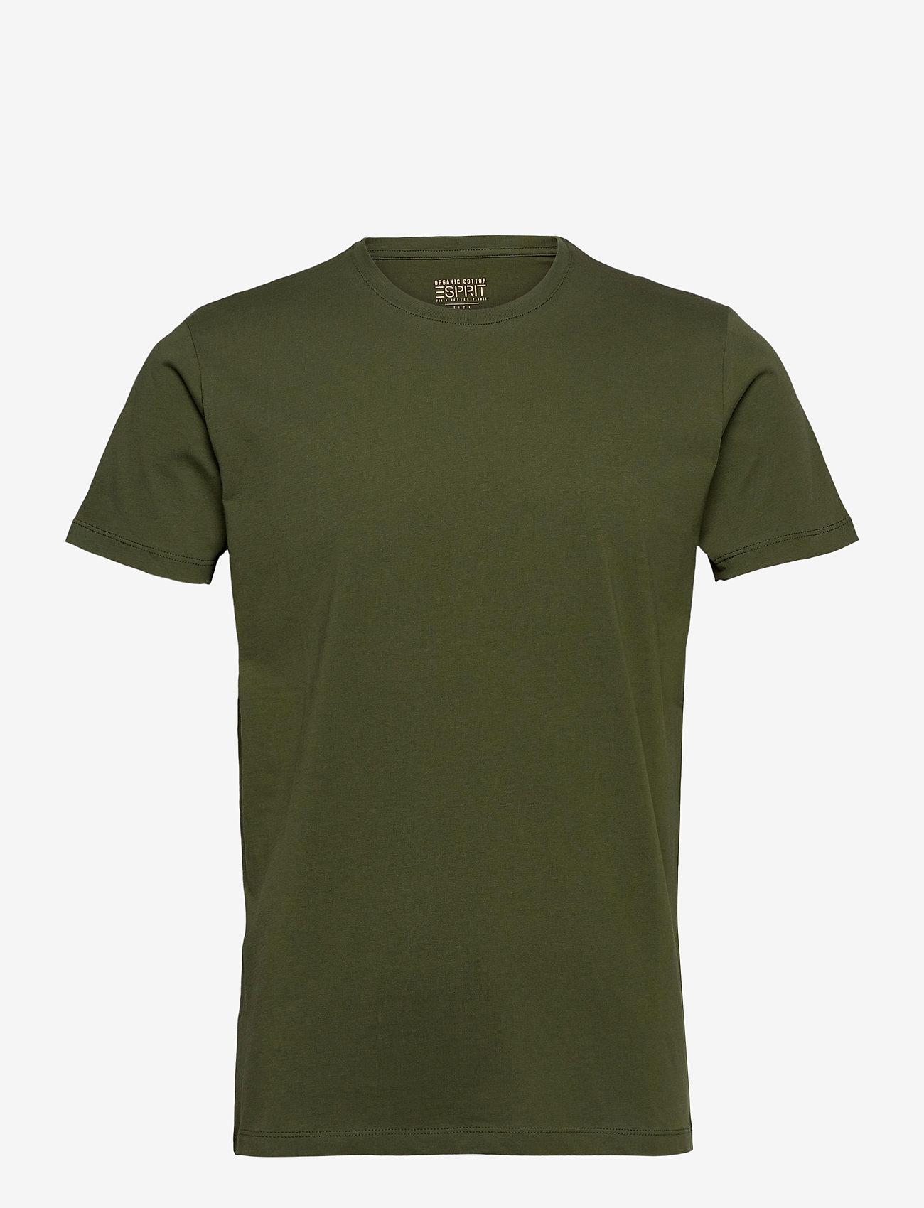 Esprit Casual - T-Shirts - t-shirts basiques - khaki green - 0