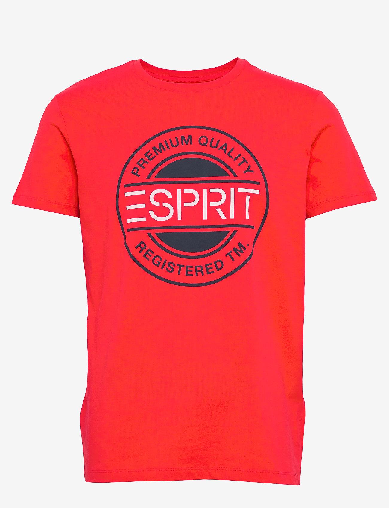 Esprit Casual - T-Shirts - t-shirts à manches courtes - orange red - 0