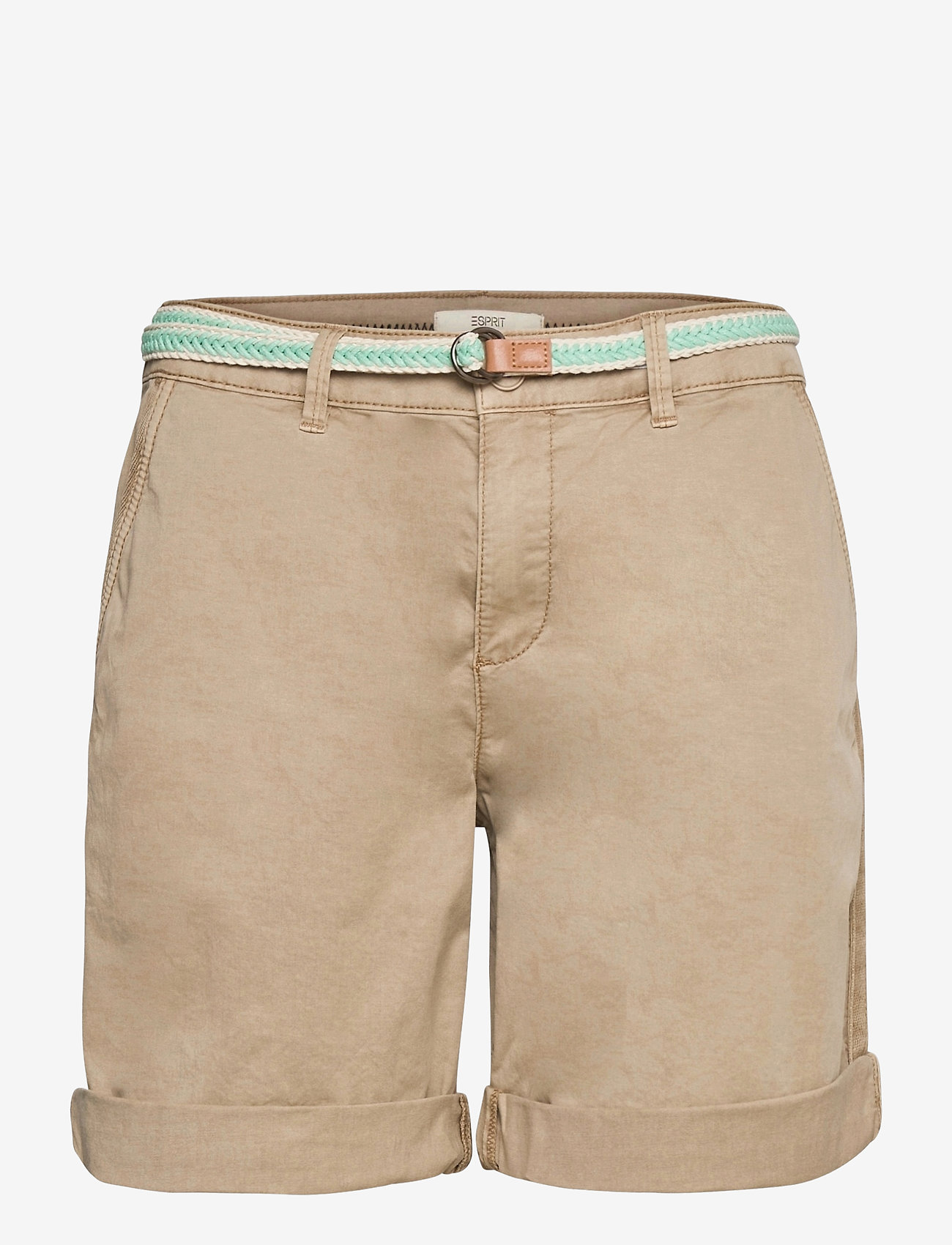 Esprit Casual - Shorts woven - chino shorts - beige - 0