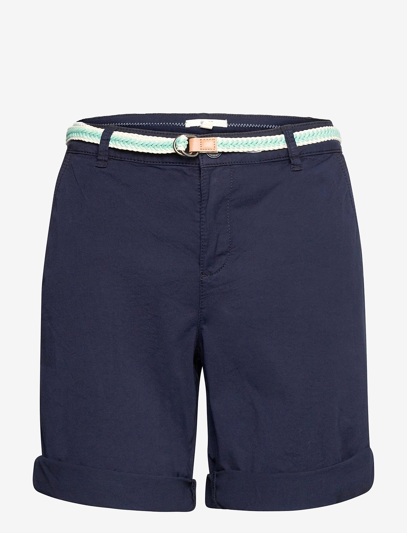 Esprit Casual - Shorts woven - chino shorts - navy - 0