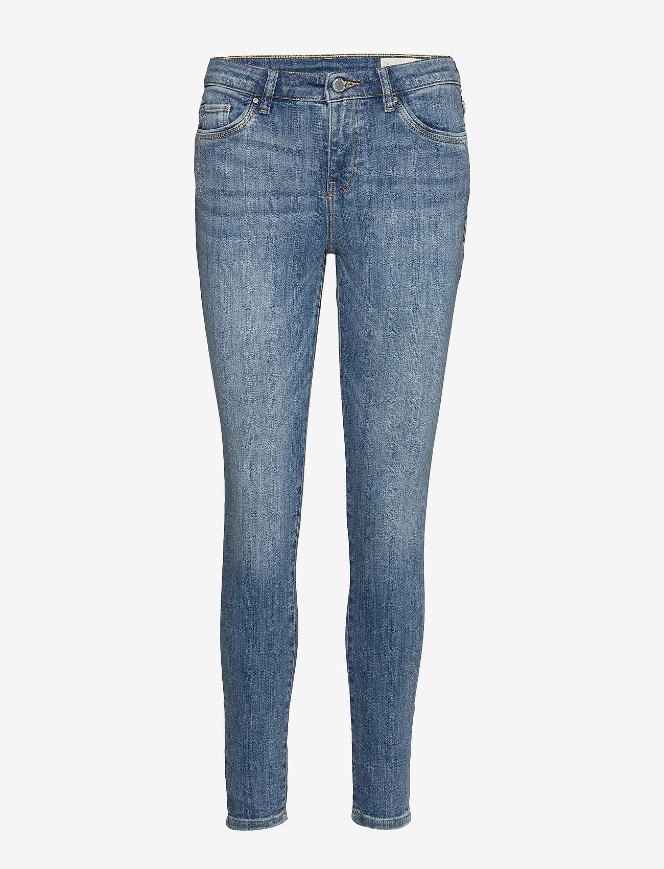 Esprit Casual - Pants denim - skinny jeans - blue light wash - 1