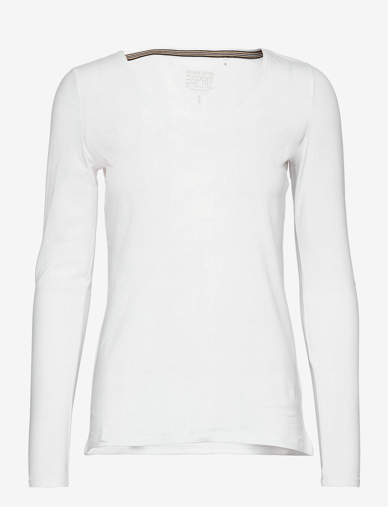 Esprit Casual - T-Shirts - long-sleeved tops - white - 0