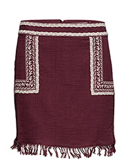 Skirts light woven - BORDEAUX RED