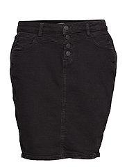Skirts denim - BLACK DARK WASH