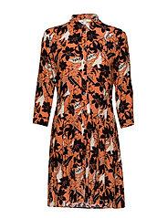 Dresses light woven - RUST ORANGE 4