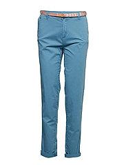 Pants woven - TEAL BLUE