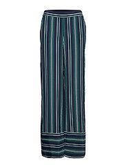 Pants woven - DARK TEAL GREEN