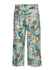 Pants woven - LIGHT AQUA GREEN