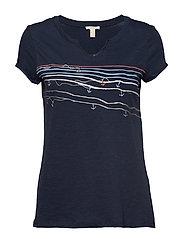T-Shirts T-shirts & Tops Short-sleeved Blå ESPRIT CASUAL