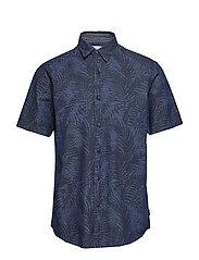 Shirts Woven Kortermet Skjorte Blå ESPRIT CASUAL