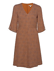 Dresses light woven - RUST BROWN 4