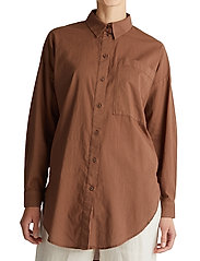 Esprit Casual - Blouses woven - langermede skjorter - rust brown - 0