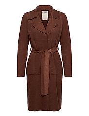 Coats woven - BROWN