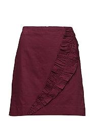 Skirts light woven - GARNET RED