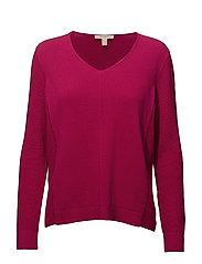 Sweaters - DARK PINK