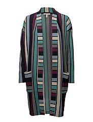 Sweatshirts cardigan - AUBERGINE