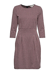 Dresses knitted - GARNET RED