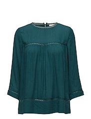 Blouses woven - DARK TEAL GREEN