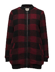 Coats woven - GARNET RED