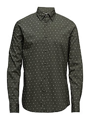 Shirts woven - DARK GREEN