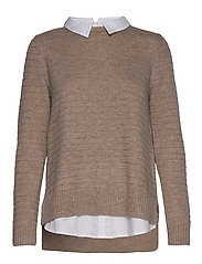 Sweaters - TAUPE 5