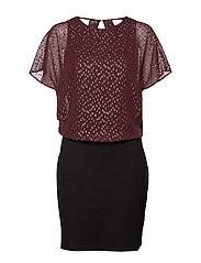 Dresses light woven - BORDEAUX RED
