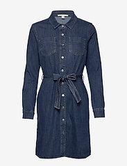 Esprit Casual - Dresses denim - skjortekjoler - blue dark wash - 0