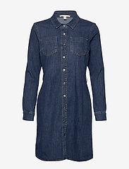 Esprit Casual - Dresses denim - skjortekjoler - blue dark wash - 2