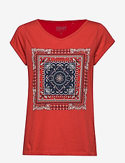 Esprit Casual - T-Shirts - t-shirts med tryk - dark red - 0