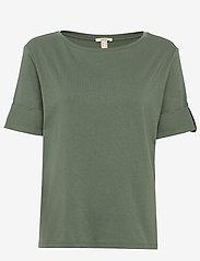 Esprit Casual - T-Shirts - basic t-shirts - khaki green - 0