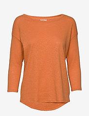 Esprit Casual - T-Shirts - langærmede toppe - rust orange - 0