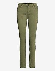 Esprit Casual - Pants woven - slim fit bukser - khaki green - 0