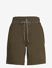 Esprit Casual - Shorts woven - chino shorts - khaki green - 0