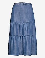 Esprit Casual - Skirts denim - midi nederdele - blue medium wash - 0