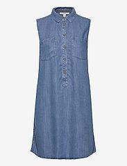 Esprit Casual - Dresses denim - korte kjoler - blue light wash - 0