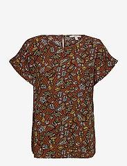 Esprit Casual - Blouses woven - kortermede bluser - rust brown 4 - 0