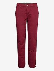 Pants woven - BORDEAUX RED