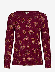 Esprit Casual - T-Shirts - long-sleeved tops - bordeaux red - 0