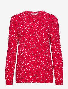 Blouses woven - topy z długimi rękawami - red