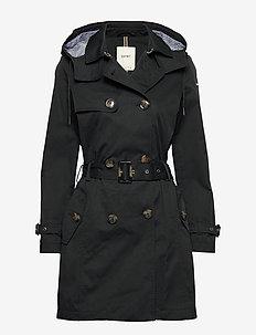 Coats woven - trenchcoats - black