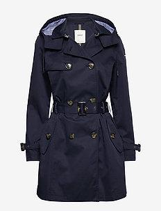 Coats woven - trenchcoats - navy