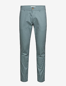 Pants woven - chino's - teal green
