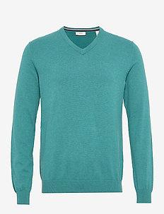 Sweaters - basic knitwear - teal blue 5