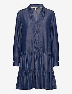 Dresses denim - skjortekjoler - blue dark wash