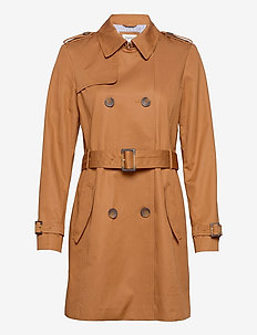 Coats woven - trenchs - camel
