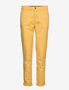 Pants woven - chinos - yellow