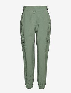Pants woven - casual trousers - khaki green